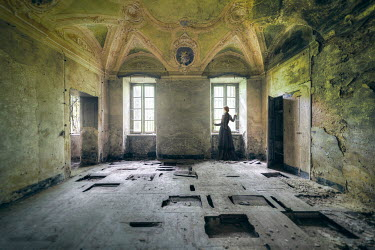 Christophe Dessaigne HISTORICAL WOMAN IN DERELICT MANSION Women