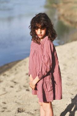 Tanya Gramatikova LITTLE BRUNETTE GIRL ON SANDY BEACH Children