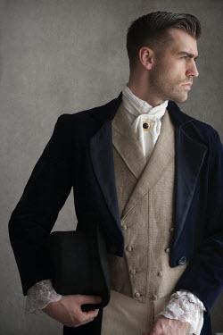 Lee Avison young handsome victorian gentleman in profile Men
