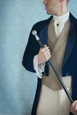Lee Avison young victorian gentleman holding cane Men