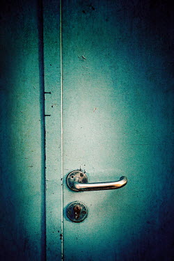 Magdalena Russocka HANDLE AND LOCK ON SHADOWY DOOR Building Detail