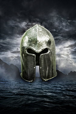 Nik Keevil MEDIEVAL HELMET AND STORMY SEA Miscellaneous Objects