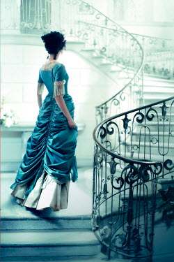 ILINA SIMEONOVA YOUNG VICTORIAN WOMAN ON GRAND STAIRCASE Women