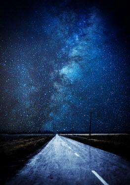 Jill Ferry COUNTRY ROAD UNDER STARRY NIGHT SKY Roads