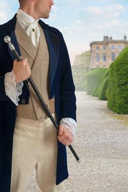 Lee Avison victorian gentleman in the grounds of country house Men