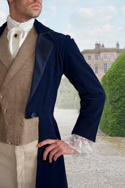 Lee Avison victorian gentleman in grounds of country house Men