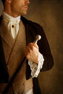 Lee Avison young victorian man holding cane Men