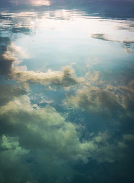 Mark Owen REFLECTION OF CLOUDS ON WATER Seascapes/Beaches