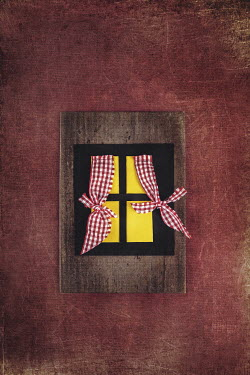 Kelly Sillaste CARDBOARD WINDOW WITH CURTAINS Miscellaneous Objects