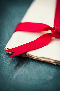 Laura Kate Bradley PAPERS TIED WITH RED RIBBON Miscellaneous Objects