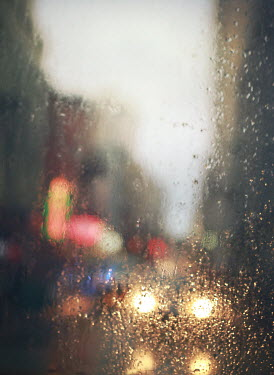 Mark Owen CITY lights BEHIND RAIN SOAKED GLASS Specific Cities/Towns