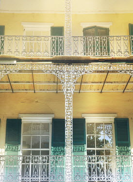 Mark Owen DECORATIVE NEW ORLEANS HOUSE WITH SHUTTERS Houses