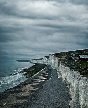CollaborationJS Beachy Head chalk cliffs beside wintry sea Seascapes/Beaches