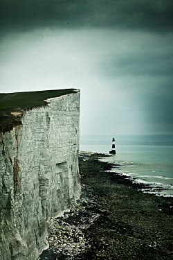 CollaborationJS Beachy Head Lighthouse and cliffs beside sea Seascapes/Beaches
