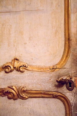 Irene Suchocki ORNATE SHABBY DOOR WITH GOLD HANDLE Building Detail