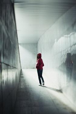 Svetlana Bekyarova GIRL WALKING IN URBAN TUNNEL Children