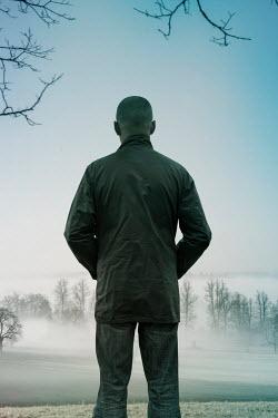 Stephen Mulcahey man looking at misty forest Men