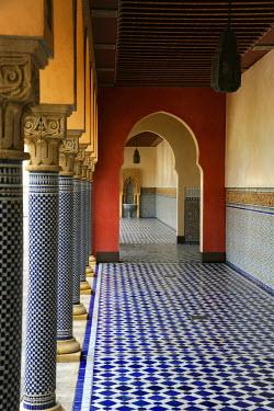 Ute Klaphake DECORATIVE TILED HALLWAY INSIDE MOSQUE Religious Buildings