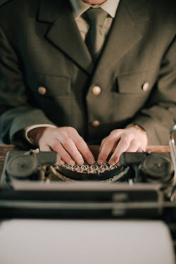 Ysbrand Cosijn 1940S OFFICER USING TYPEWRITER Men