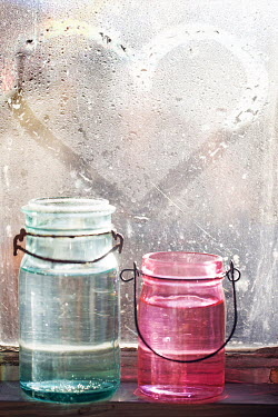 Alison Archinuk GLASS JARS BY HEART DRAWN ON RAINY WINDOW Miscellaneous Objects