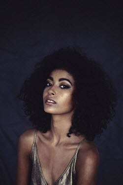 Shelley Richmond YOUNG GLAMOROUS WOMAN WITH AFRO HAIR Women