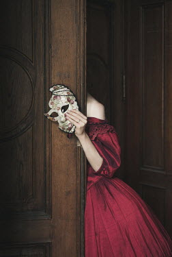 Dorota Gorecka GEORGIAN WOMAN WITH MASK HIDDEN BEHIND DOOR Women