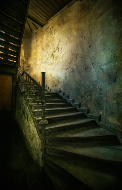Jaroslaw Blaminsky SHADOWY STAIRS LEADING UP FROM BASEMENT Stairs/Steps