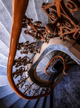 Jaroslaw Blaminsky ORNATE SPIRAL STAIRCASE LEADING DOWNWARDS Stairs/Steps