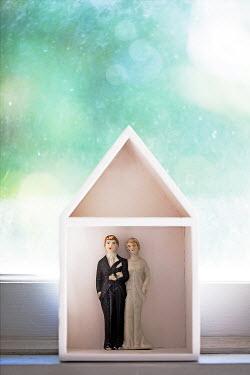 Alison Archinuk VINTAGE WEDDING CAKE TOPPER ON WINDOWSILL Miscellaneous Objects