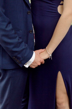Isabelle Lafrance COUPLE IN BLUE HOLDING HANDS Couples