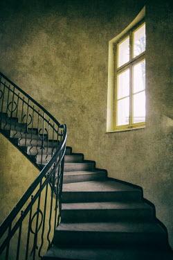 Jaroslaw Blaminsky STAIRCASE LEADING UPWARDS PAST WINDOW Stairs/Steps