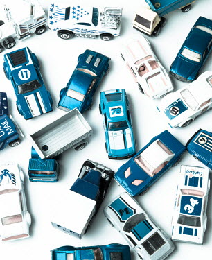 Jean Ladzinski BLUE TOY CARS Miscellaneous Objects