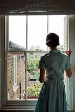 Miguel Sobreira brunette 1950s Woman by Window Women