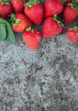 Isabelle Lafrance STRAWBERRIES LYING ON GRANITE TABLE Miscellaneous Objects