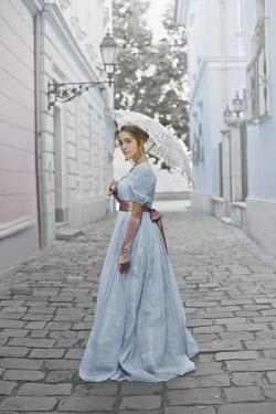 Ildiko Neer YOUNG REGENCY WOMAN IN COBBLED TOWN Women