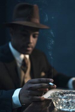 Ysbrand Cosijn BLACK MAN IN HAT SMOKING Men