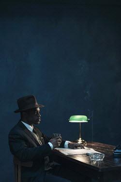 Ysbrand Cosijn BLACK MAN SMOKING AND DRINKING Men