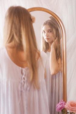 Vivienne Mok TEENAGE GIRL LOOKING IN MIRROR Women