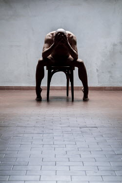 Paolo Martinez NAKED MAN SITTING ON CHAIR INDOORS Men