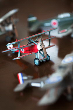 Galya Ivanova GERMAN MODEL PLANE WITH OTHER TOY PLANES Miscellaneous Objects