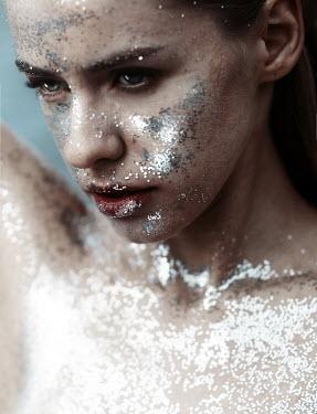 Kirill Sakryukin YOUNG WOMAN COVERED IN GLITTER Women