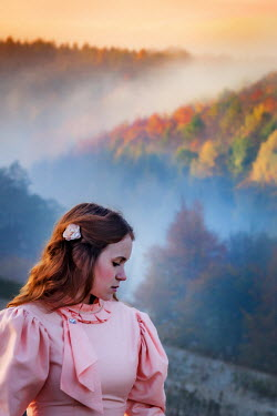 Ashley Franklin YOUNG VINTAGE WOMAN IN MISTY WOODS Women