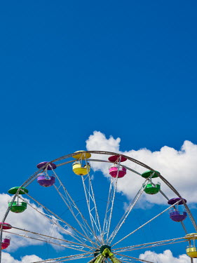 Elisabeth Ansley BIG WHEEL AT FUNFAIR WITH BLUE SKY Miscellaneous Objects