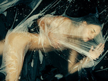 Rekha Garton NAKED DEAD WOMAN COVERED IN PLASTIC Women