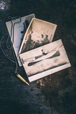 Des Panteva VINTAGE WAR PHOTOS AND BULLETS Miscellaneous Objects
