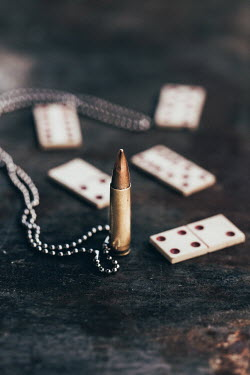 Des Panteva VINTAGE DOMINOS AND BULLET Miscellaneous Objects