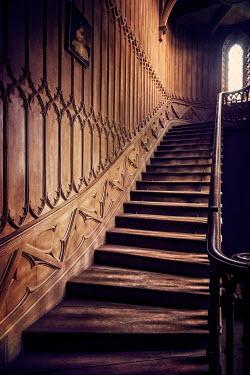 Evelina Kremsdorf grand wood panelled stairs Stairs/Steps