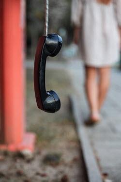 Maria Petkova WOMAN WALKING AWAY FROM PUBLIC TELEPHONE Women
