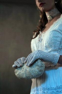 Ysbrand Cosijn YOUNG HISTORICAL WOMAN HOLDING BEADED BAG Women