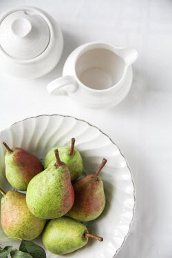Jean Ladzinski PEARS ON CHINA PLATE BESIDE JUG Miscellaneous Objects